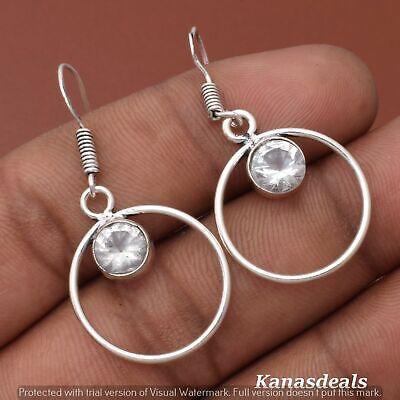 Thanksgiving Gift 3 Gm Zircon 925 Sterling Silver Plated Earring ER-28316