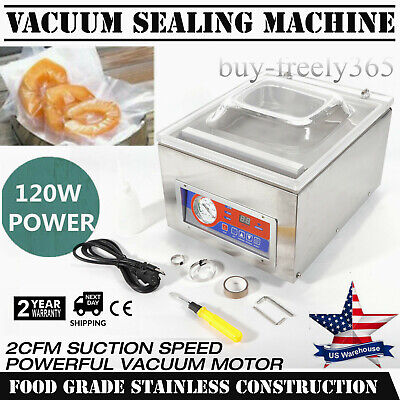 Table Top Chamber Vacuum Sealer Digital Vacuum Packing Sealing Machine 120w 110v