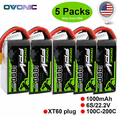 5P OVONIC 100C 22.2V 1000mAh 6S Lipo Battery for HGLRC Mefis