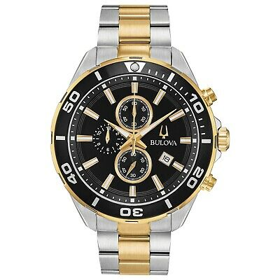 Bulova Men's Quartz Chronograph Two-Tone Bracelet 44mm Watch 98B342