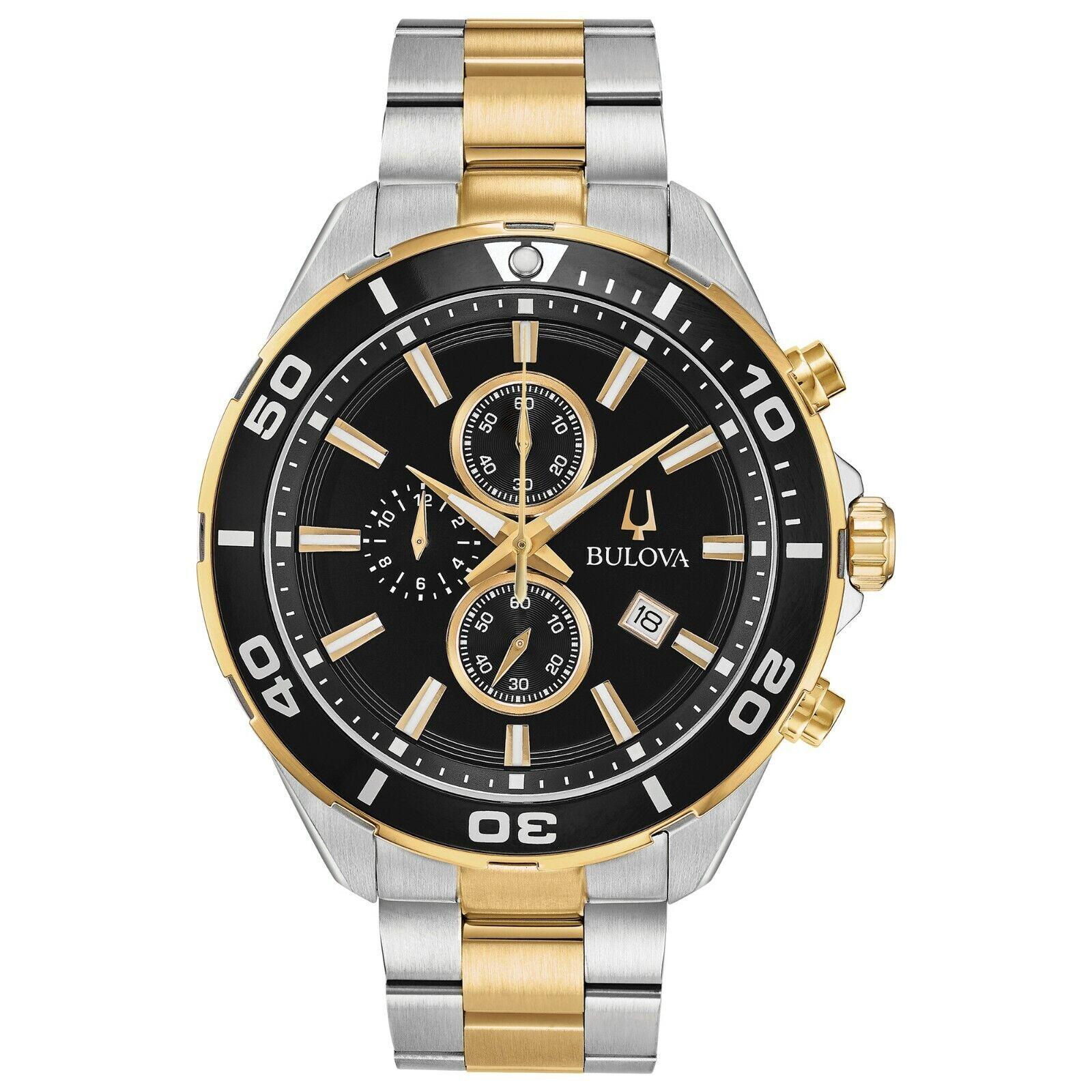 Bulova Men's Quartz Chronograph Two-Tone Bracelet 44mm Watch