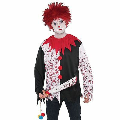 lown Top T Shirt Halloween Blutig Circus Freak Kostüm (Freak-kostüm)