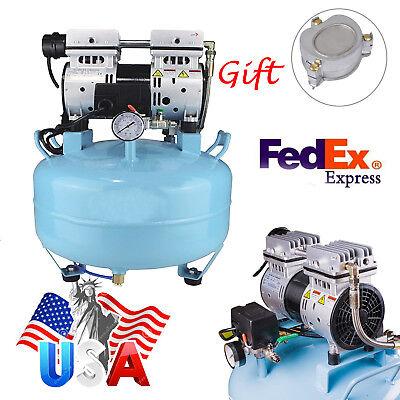 Fda Dental Noiseless Oilless Air Compressor Pressure Motor 34hp Machine Gift