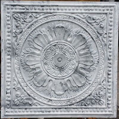 Ceiling tiles Faux tin art distressed drop in decor wall panels 10tiles/lot PL17