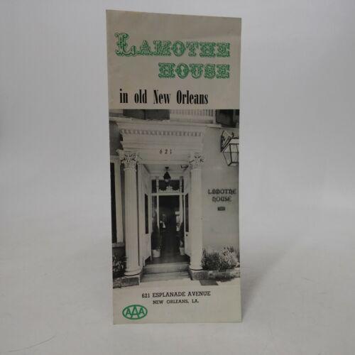 New Orleans Louisiana LAMOTHE HOUSE Inn vintage advertisment brochure