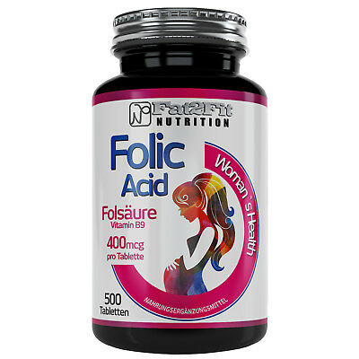 Folsäure 500 Tabletten je 400mcg Vitamin B9 Die preiswerte Alternative