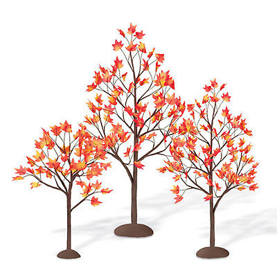 Halloween Village Accessories (Department 56, Dept 56 Village Accessories - Village Autumn Maple Trees,)