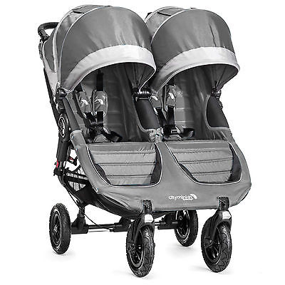Baby Jogger 2016 City Mini GT Double Stroller - Steel Grey - New! Free Ship!