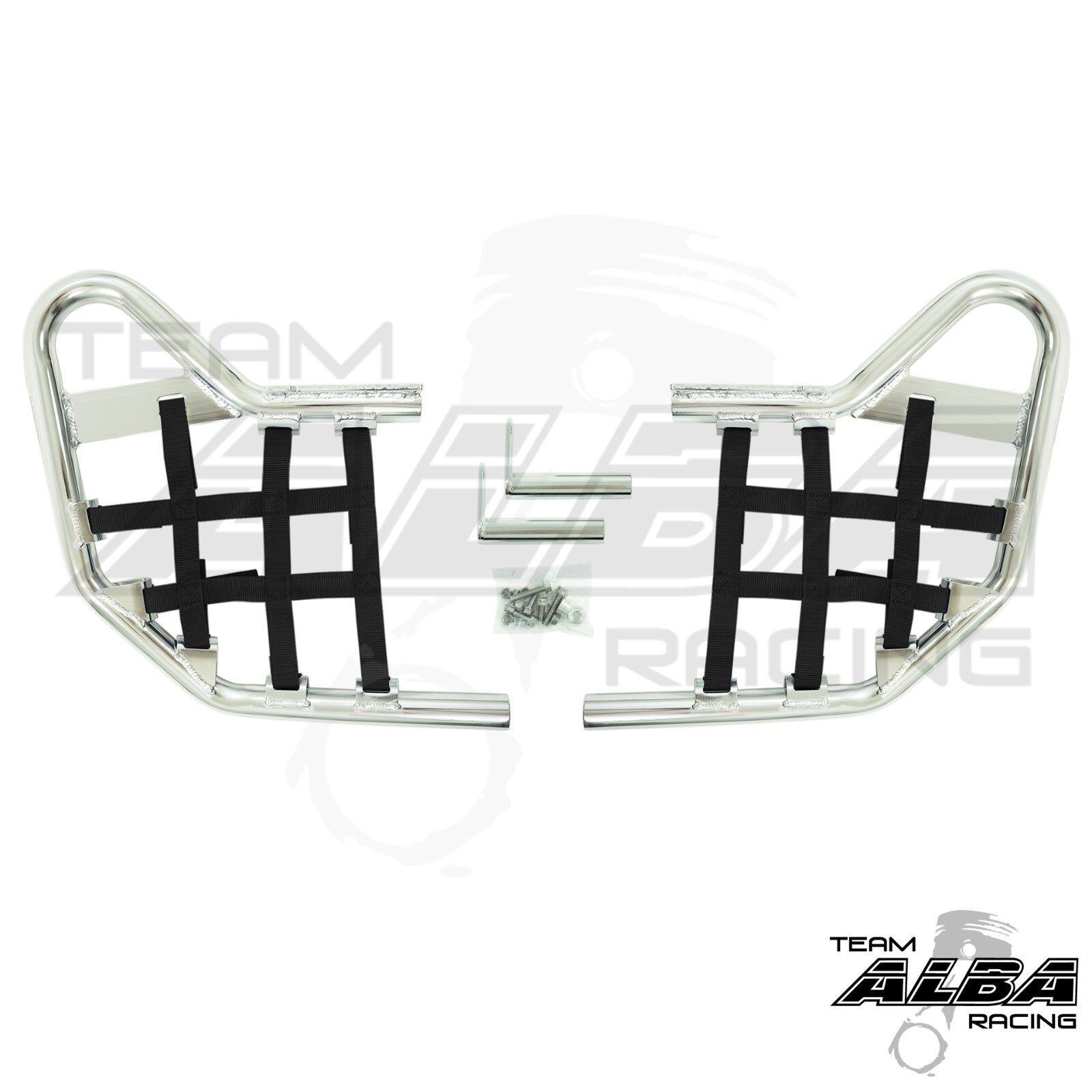 Warrior YFM 350 YFM350  Nerf Bars  Alba Racing  Silver bar Black nets  210 T1 SB