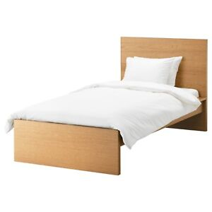 Bed Single IKEA MALM TEAK FINISH Includes  SLUMBER KING  Mattress Fremantle Fremantle Area Preview