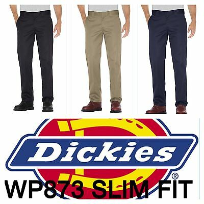DICKIES MEN'S WP873 SLIM FIT STRAIGHT LEG WORK PANTS -