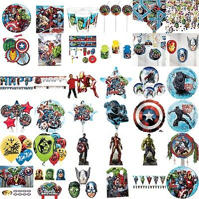 Avengers Birthday Party Decorations Table Wear Children Plate Spoon Cups Games, (Avengers Party Games)