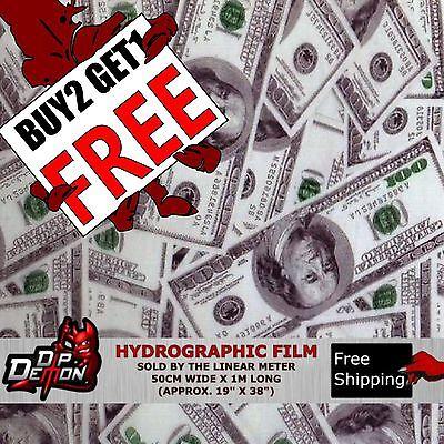 Lm Hundred Dollar Bills Hydrographic Water Transfer Film Hydro Dipping Dip Demon