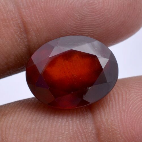 14.50 Cts Natural Hessonite Garnet Oval Faceted Cut Untreated Certified Gemstone