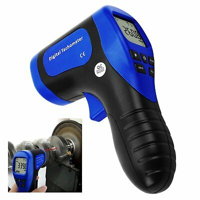 Portable Digital Tachometer Non-contact Surface Speed Tach Meter Gauge 0.021