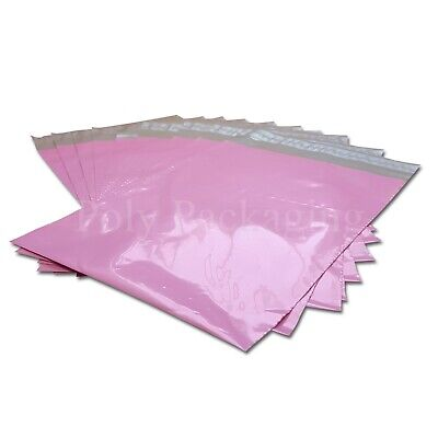 100 x PINK Mailing Bags 12.5x17