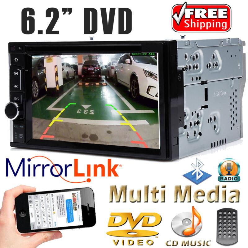 "6.2"" 2 Din Car DVD CD Player Double Stereo Radio Bluetooth Mirror Link Headunit"
