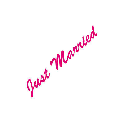 Just Married 30cm Rosa Pegatina Tatuaje Boda Decoración Lámina Coche Heck Disco