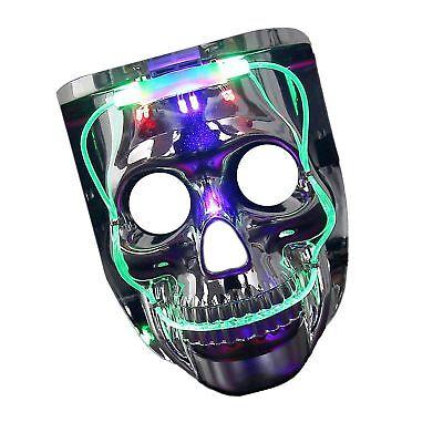 Halloween Costume Men Women Kids Light-up Scary Mask LED Jason Friday the 13th (Ladies Friday 13th Halloween Costume)