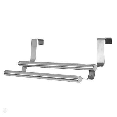 WENKO Tür Doppel Handtuchstange Edelstahl / Schrank, Handtuchhalter
