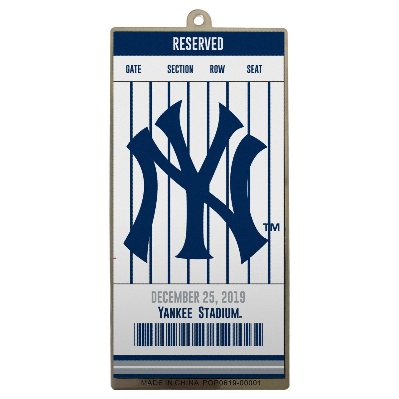 NY New York Yankees Metal Ticket Baseball Christmas Tree Hol