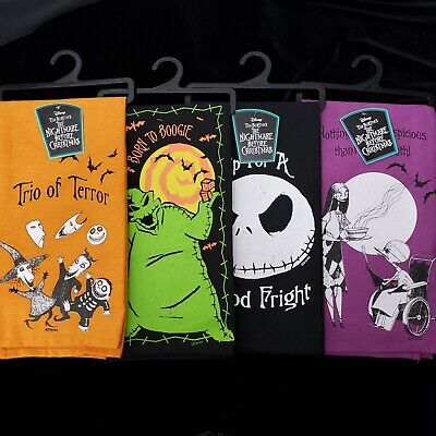 Disney The Nightmare Before Christmas Spooky Halloween Kitchen Towel Set Of Four