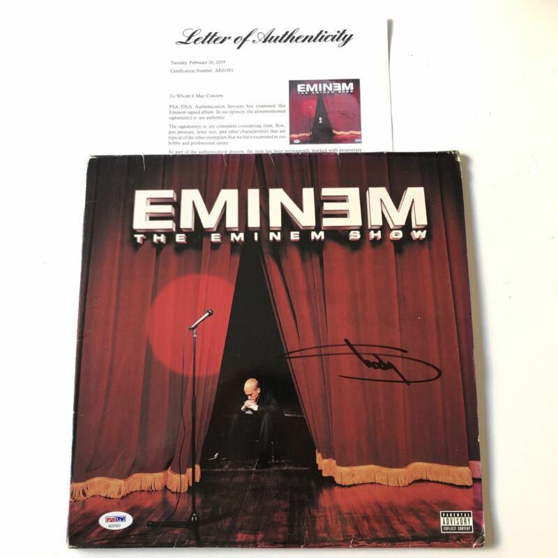 Eminem Signed The Eminem Show LP Vinyl PSA/DNA Album Autographed