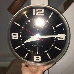 Newgate Bubble Domed Wall Clock black face -WORKS! Unique Timepiece 10 Diameter