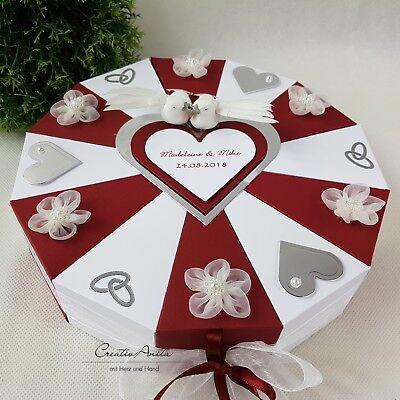 AUX-WEISS-SILBER Geldgeschenk Torte Hochzeit Geschenkidee  (Silberhochzeit Ideen)