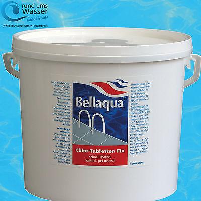 Bellaqua Chlor Fix 20g Tabletten 5kg Schock Chlor Tabs Pool Schwimmbad Bayrol