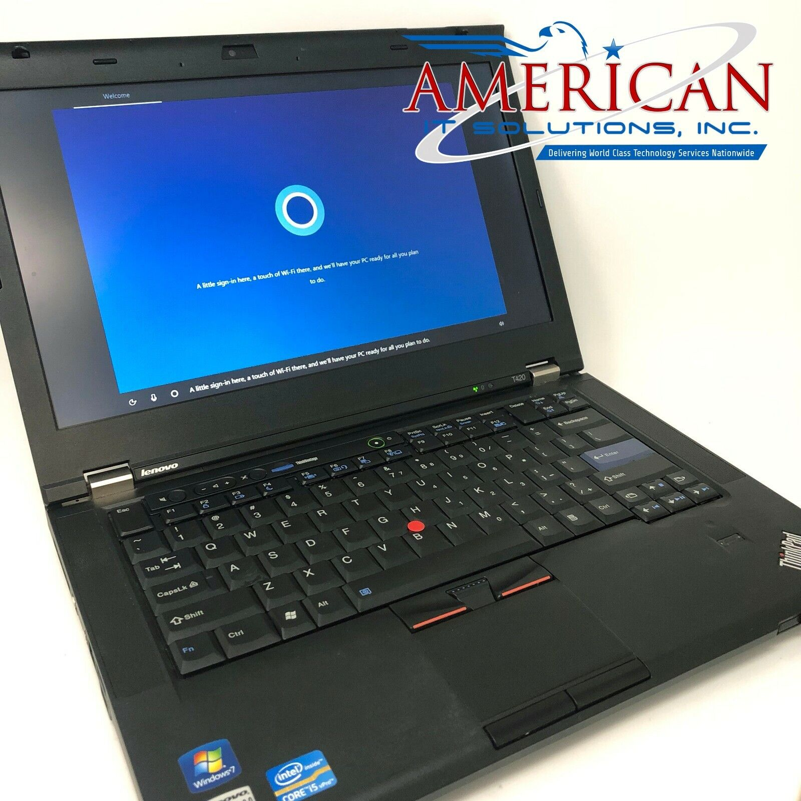 Laptop Windows - Lenovo T420 - Core i5 @ 2.5GHz - 4GB RAM - 128GB SSD - Webcam - Windows 10 Pro