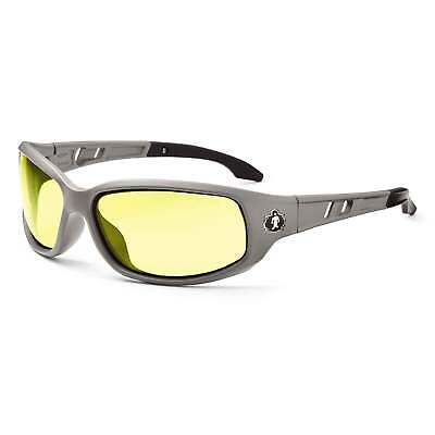 Skullerz Valkyrie Safety Glasses With Yellow Lens And Matte Gray Frame