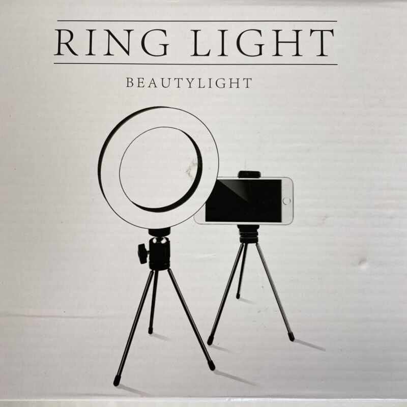 """Dimmable 6.3"""" LED Ring Light Selfies Youtube Live Video Tripod Lamp Phone Stand"""