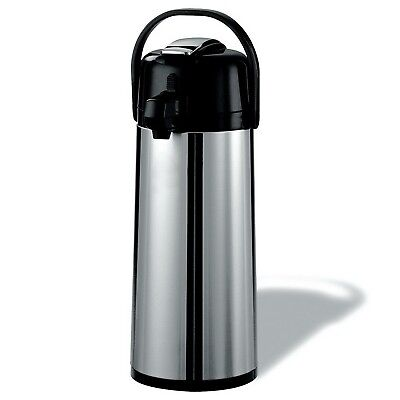 2.2 Liter Airpot Hot Coffee Server Carafe Beverage Dispenser Stainless Steel