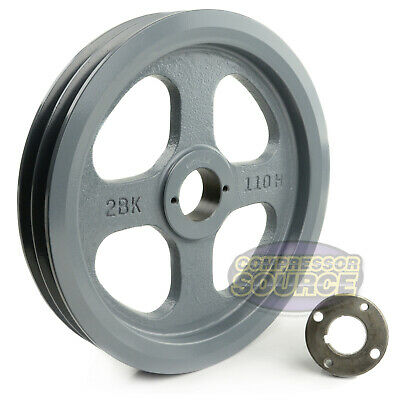 Cast Iron 10.75 2 Groove Dual Belt B Section 5l Pulley 1-316 Sheave Bushing