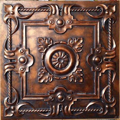 Ceiling tile art style archaic copper backdrop decor wall panels PL29 10tile/lot