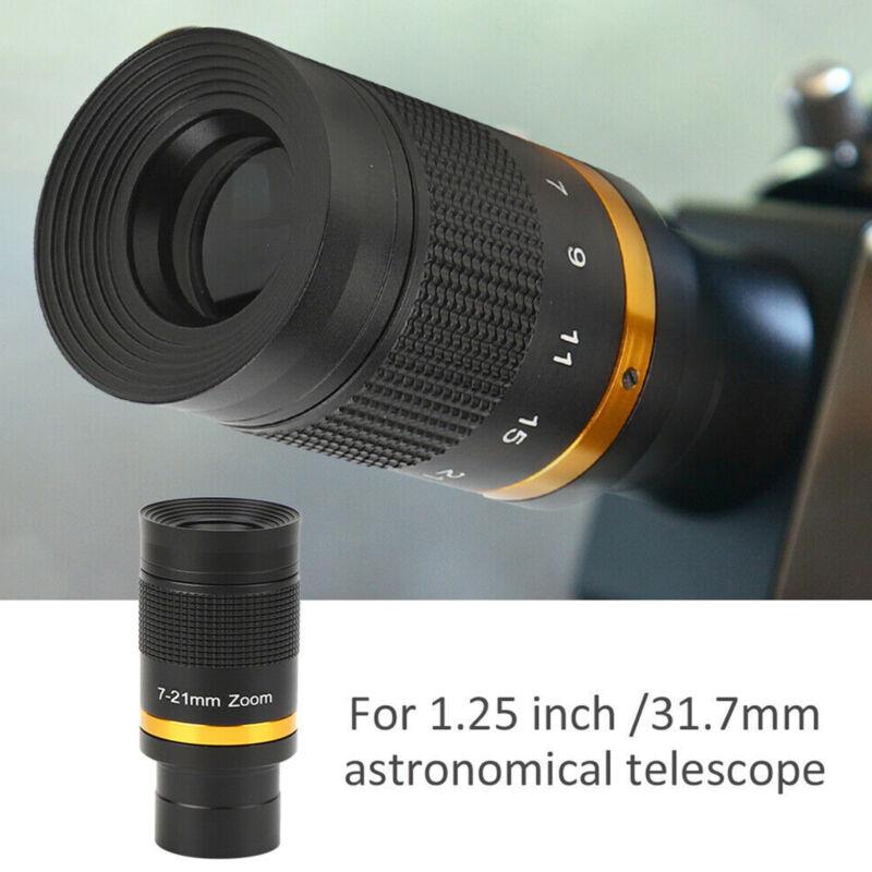 "1.25"" Telescope Eyepiece 7‑21mm Continuous Zoom Astronomical Telescope Lens US"