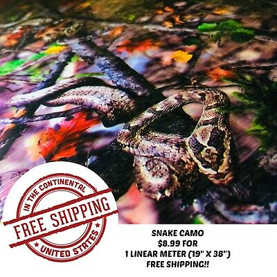 Hydrographic Water Transfer Hydro Dipping Dip Film Snake Camo 1m 19 X 38