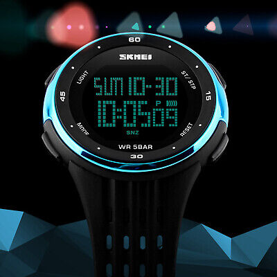 Men Women Sports Quartz Digital Watch LED DATE Waterproof Army Wrist Watches US