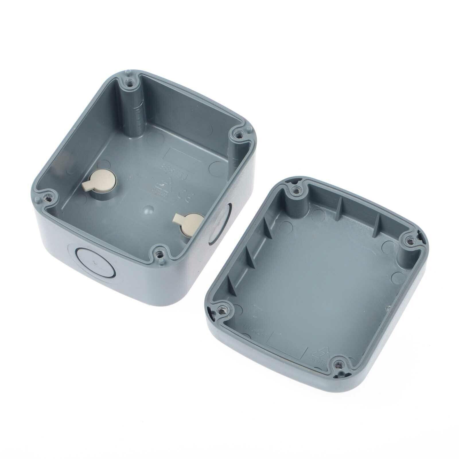 Black Electric IP66 Junction Box /& Outdoor Waterproof 86×74×62mm Weatherproof