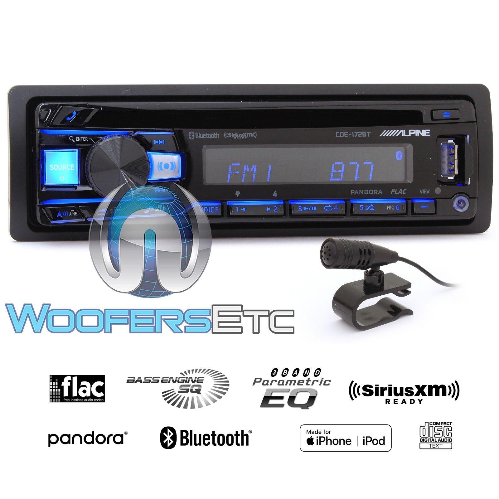 ALPINE CDE-172BT CD USB MP3 WMA AUX IPOD IPHONE EQUALIZER EQ