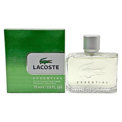 Lacoste Essential for Men 2.5 oz Eau de Toilette Spray NIB AUTHENTIC