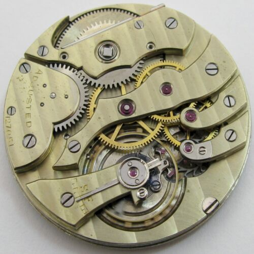 Quality Agassiz Pocket Watch Movement for parts .. OF 41.4 mm fit Open Face case