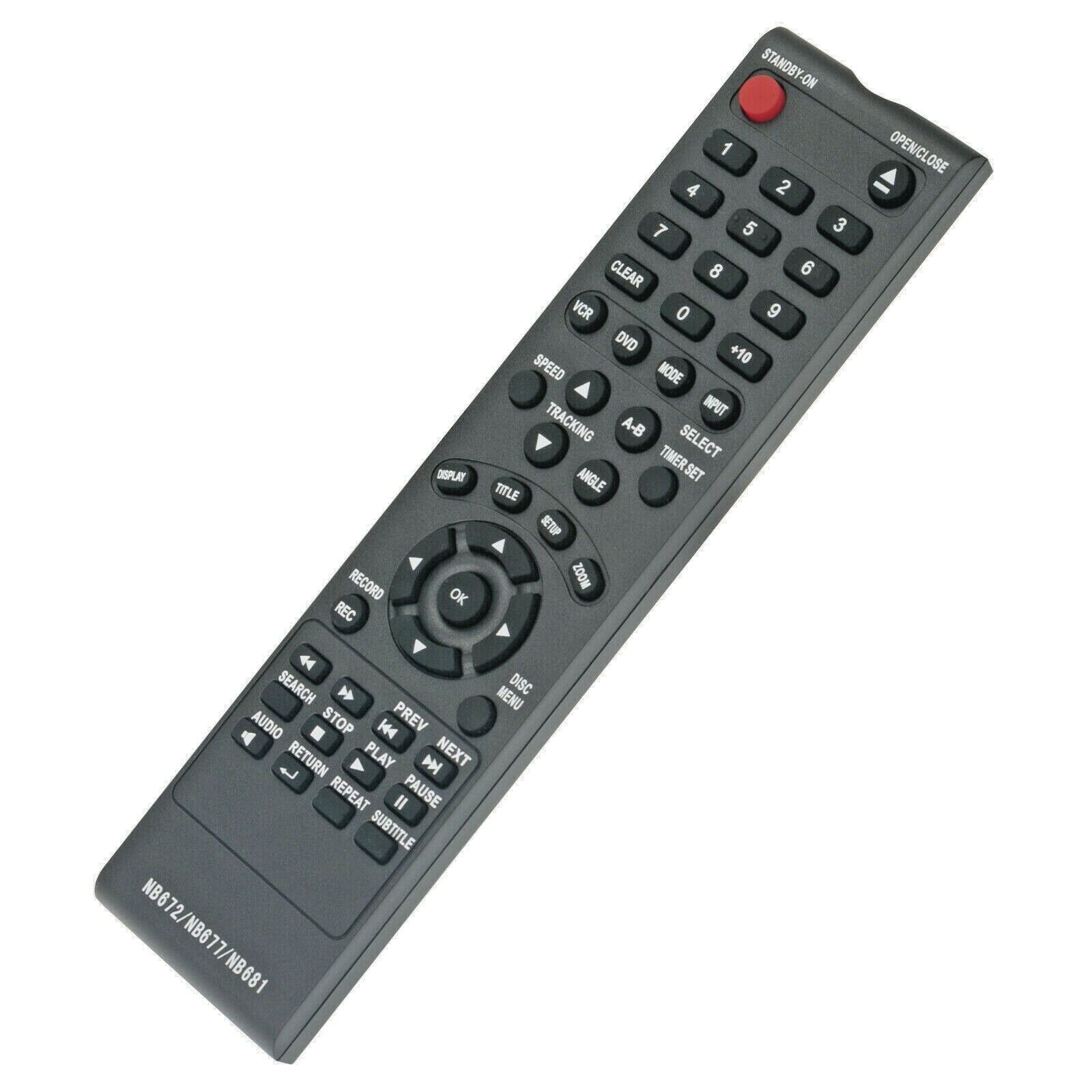 DVD Player Remote Control NB672UD NB677UD NB681UD Replace fo