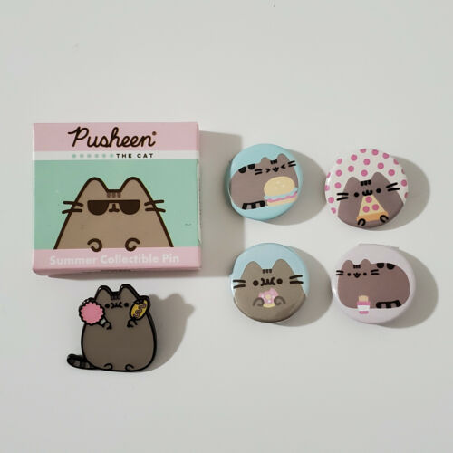 Pusheen Cat Buttons Pins (Set #7)