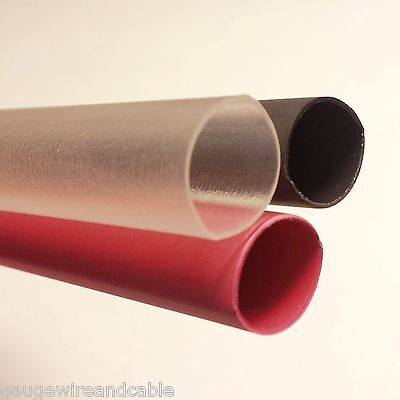 Heat Shrink Tubing 31 Adhesive Glue Lined Tubes 12 Inch Lengths Redblackclear
