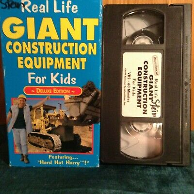 Rare VHS~Real Life Giant Construction Equipment For Kids Deluxe~ Hard Hat Harry](Hard Hats For Kids)