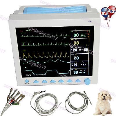 Contec Vet Veterinary Patient Monitor Icu Ccu Vital Signs 6-parameterusa Fedex