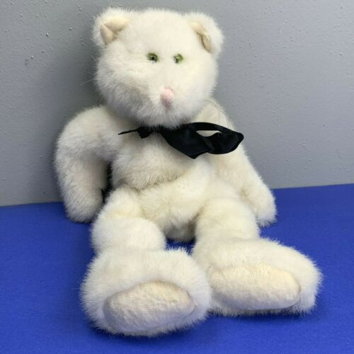 Boyds Bears Cat 1987 Plush White The Boyds Collection 14 in Kitty Long Tail