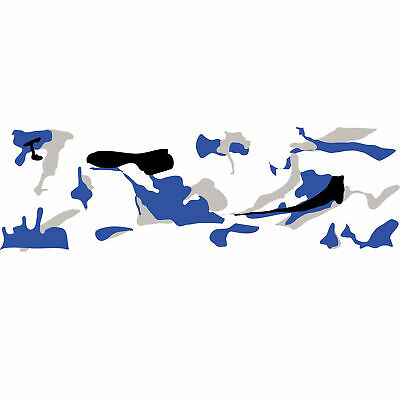 Camouflage Autofolie 100cm x 152cm Luftkanäle Schwarz weiß Grau Blau #1404